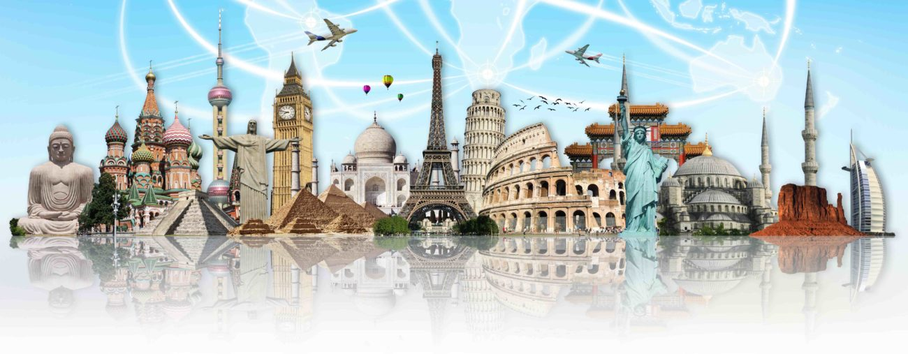 Terrific travel map vector pictures