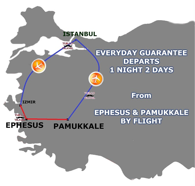 Ephesus Pamukkale 2 Days 1 Night by flight