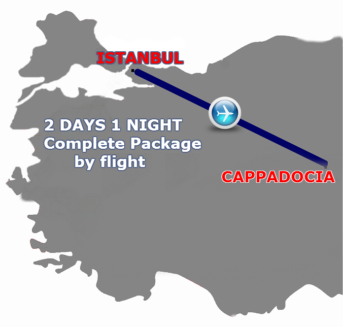 Istanbul Cappadocia 2 days 1 Night by Flight